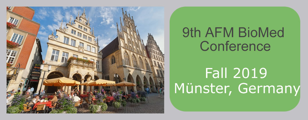 AFM BioMed 2019 will be held in Munster, Germany.